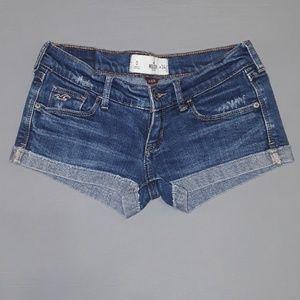 Hollister Denim Short-Shorts Size 0/24